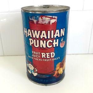 Vintage 1970's Hawaiian Punch tin can shelf decor